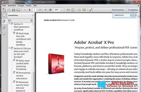 Zrzut ekranu Adobe Reader na Windows 8.1