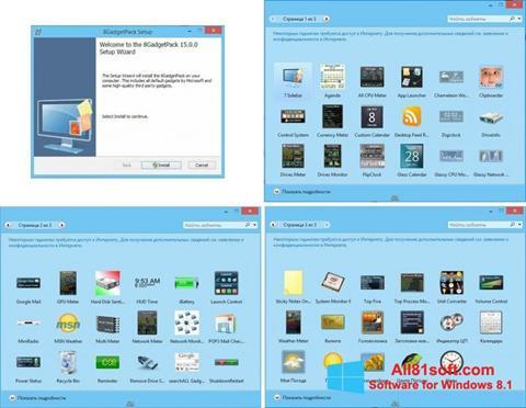 Zrzut ekranu 8GadgetPack na Windows 8.1