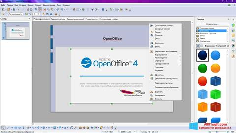 Zrzut ekranu Apache OpenOffice na Windows 8.1