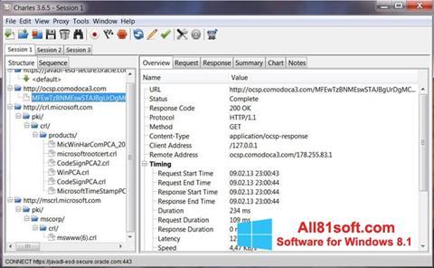 Zrzut ekranu Charles na Windows 8.1