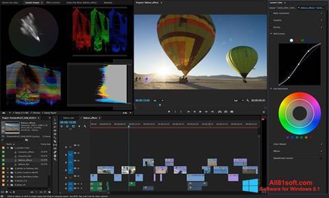 Zrzut ekranu Adobe Premiere Pro na Windows 8.1