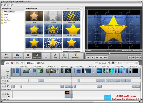 Zrzut ekranu AVS Video Editor na Windows 8.1