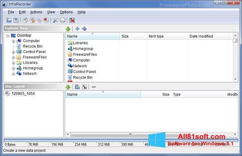 Zrzut ekranu InfraRecorder na Windows 8.1