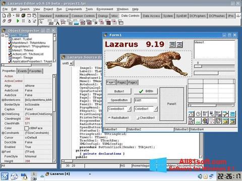 Zrzut ekranu Lazarus na Windows 8.1