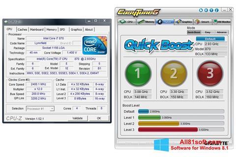 Zrzut ekranu EasyTune na Windows 8.1