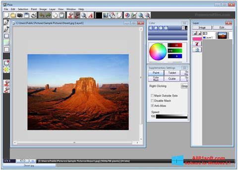 Zrzut ekranu Pixia na Windows 8.1