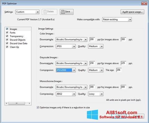 Zrzut ekranu Adobe Acrobat Pro DC na Windows 8.1