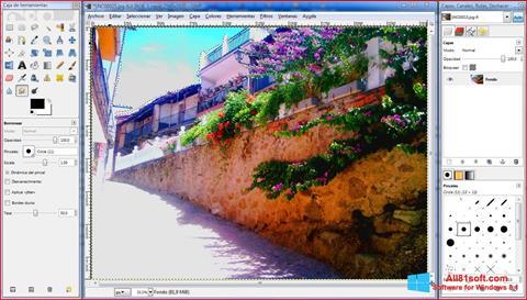 Zrzut ekranu GIMP na Windows 8.1