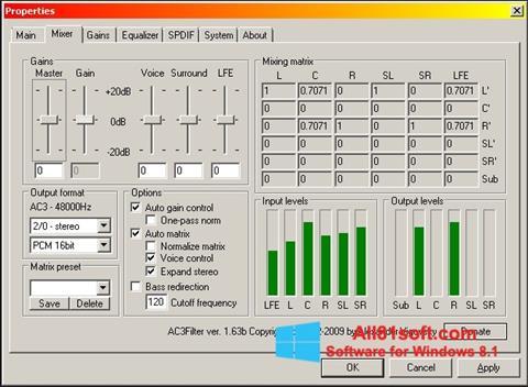 Zrzut ekranu AC3 Codec na Windows 8.1