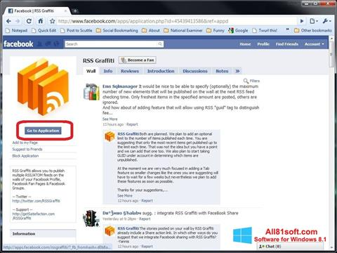 Zrzut ekranu Facebook na Windows 8.1