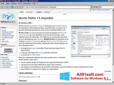 Zrzut ekranu Mozilla Firefox na Windows 8.1