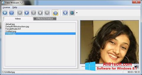 Zrzut ekranu Fake Webcam na Windows 8.1