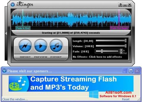 Zrzut ekranu iRinger na Windows 8.1