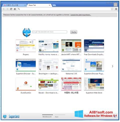 Zrzut ekranu Superbird na Windows 8.1
