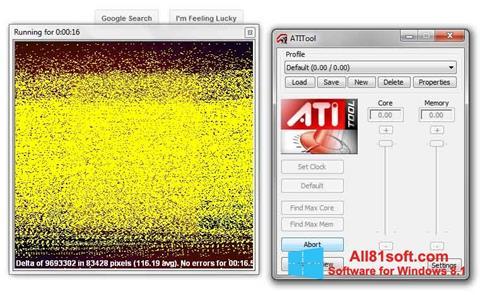 Zrzut ekranu ATITool na Windows 8.1