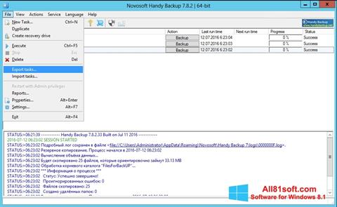 Zrzut ekranu Handy Backup na Windows 8.1