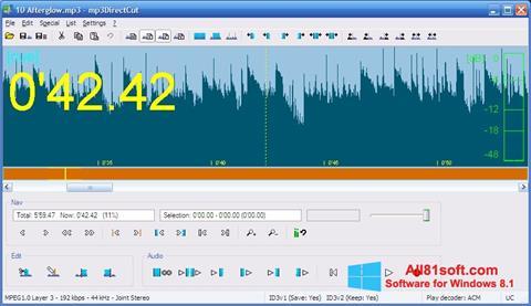 Zrzut ekranu mp3DirectCut na Windows 8.1