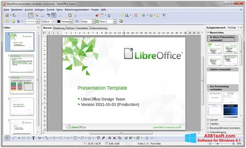 Zrzut ekranu LibreOffice na Windows 8.1