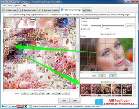 Zrzut ekranu Photo Collage Maker na Windows 8.1