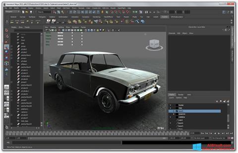 Zrzut ekranu Autodesk Maya na Windows 8.1