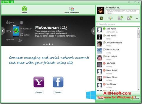 Zrzut ekranu ICQ na Windows 8.1