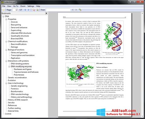 Zrzut ekranu Sumatra PDF na Windows 8.1