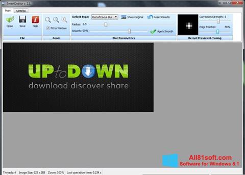 Zrzut ekranu SmartDeblur na Windows 8.1