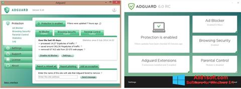 Zrzut ekranu Adguard na Windows 8.1