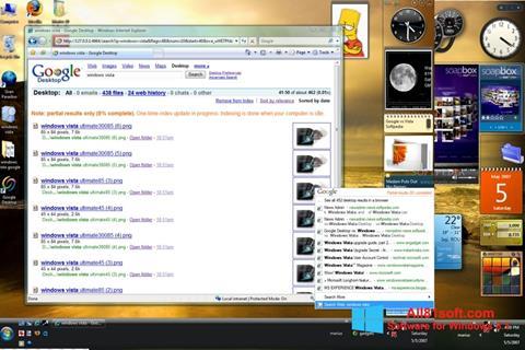 Zrzut ekranu Google Desktop na Windows 8.1