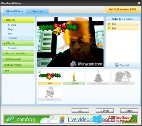 Zrzut ekranu ManyCam na Windows 8.1