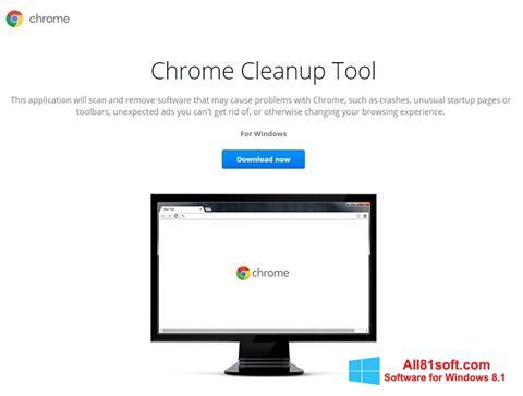 Zrzut ekranu Chrome Cleanup Tool na Windows 8.1