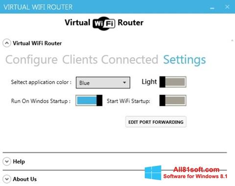 Zrzut ekranu Virtual WiFi Router na Windows 8.1
