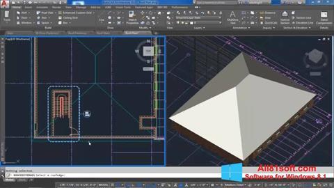 Zrzut ekranu AutoCAD Architecture na Windows 8.1