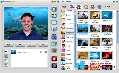 Zrzut ekranu WebcamMax na Windows 8.1