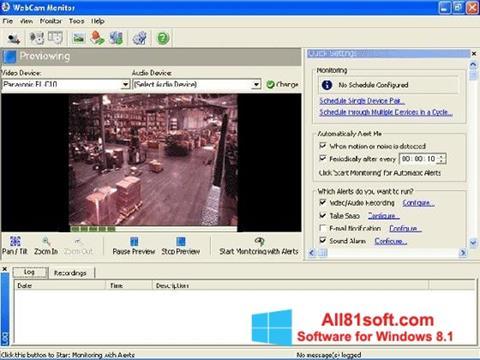 Zrzut ekranu WebCam Monitor na Windows 8.1
