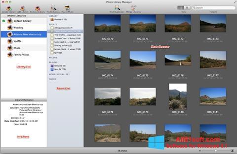 Zrzut ekranu iPhoto na Windows 8.1