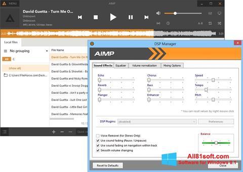 Zrzut ekranu AIMP na Windows 8.1