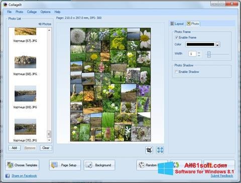 Zrzut ekranu CollageIt na Windows 8.1