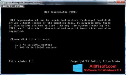 Zrzut ekranu HDD Regenerator na Windows 8.1