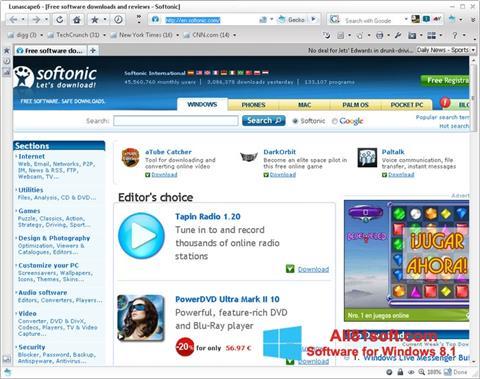 Zrzut ekranu Lunascape na Windows 8.1