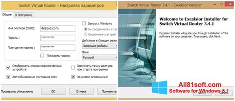 Zrzut ekranu Switch Virtual Router na Windows 8.1