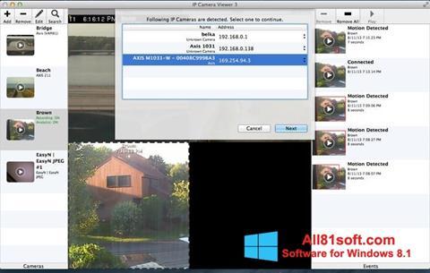 Zrzut ekranu IP Camera Viewer na Windows 8.1