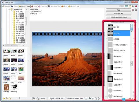 Zrzut ekranu PhotoScape na Windows 8.1