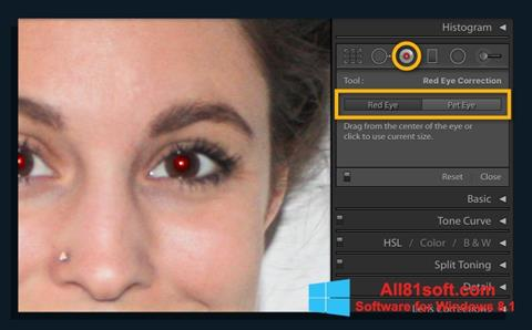Zrzut ekranu Red Eye Remover na Windows 8.1