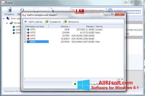 Zrzut ekranu R.saver na Windows 8.1
