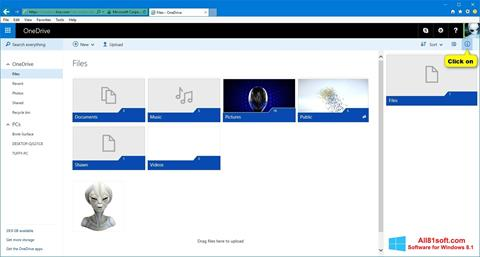 Zrzut ekranu OneDrive na Windows 8.1