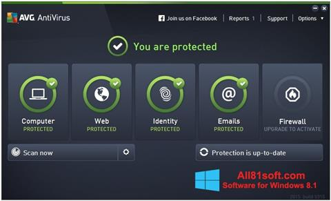 Zrzut ekranu AVG AntiVirus Pro na Windows 8.1