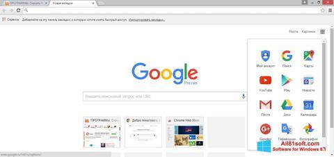 Zrzut ekranu Google Chrome na Windows 8.1