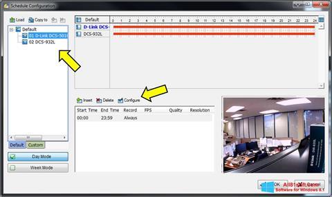 Zrzut ekranu D-ViewCam na Windows 8.1