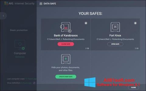 Zrzut ekranu AVG Internet Security na Windows 8.1